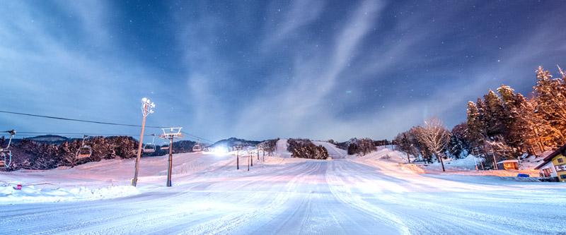戸狩温泉スキー場の貸切ナイターのイメージ